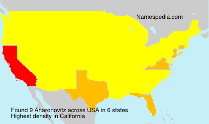 Surname Aharonovitz in USA