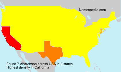 Surname Aharonson in USA