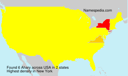 Surname Ahary in USA