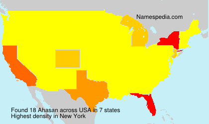 Surname Ahasan in USA