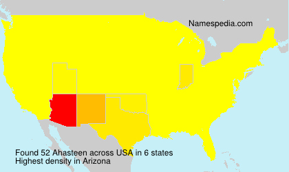 Surname Ahasteen in USA