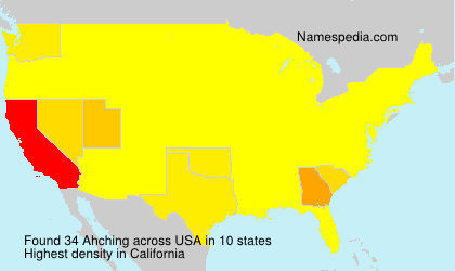 Surname Ahching in USA