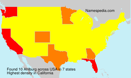 Surname Ahlburg in USA