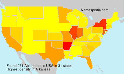Surname Ahlert in USA