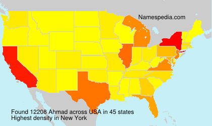 Surname Ahmad in USA