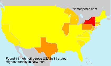Surname Ahmeti in USA