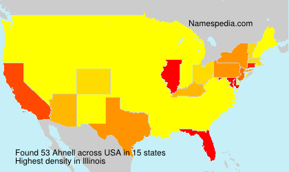 Surname Ahnell in USA