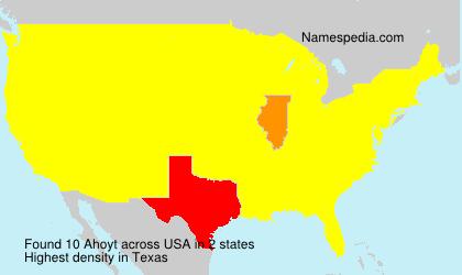 Familiennamen Ahoyt - USA