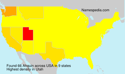 Surname Ahquin in USA