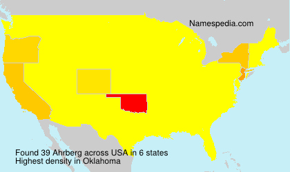 Surname Ahrberg in USA