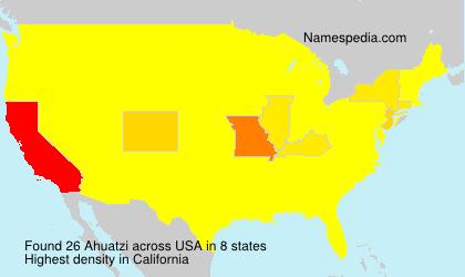 Familiennamen Ahuatzi - USA