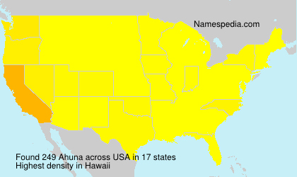 Surname Ahuna in USA