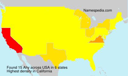 Familiennamen Ahy - USA
