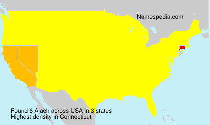 Surname Aiach in USA