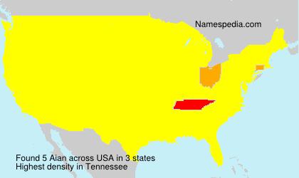 Surname Aian in USA