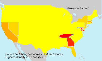 Surname Aibangbee in USA