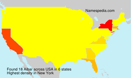 Surname Aibar in USA