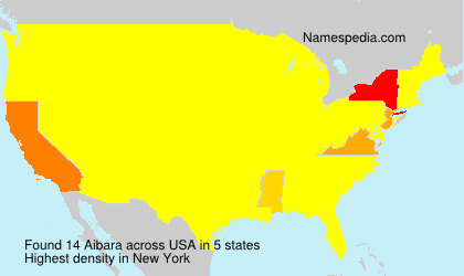 Surname Aibara in USA