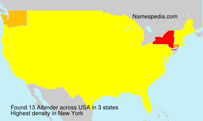 Surname Aibinder in USA