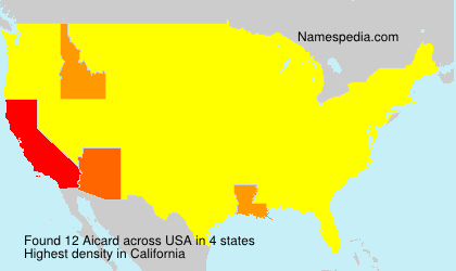 Surname Aicard in USA