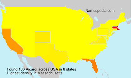 Surname Aicardi in USA