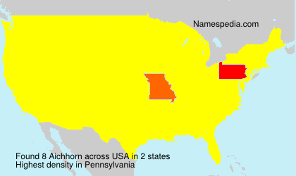 Surname Aichhorn in USA