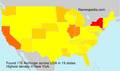 Surname Aichinger in USA