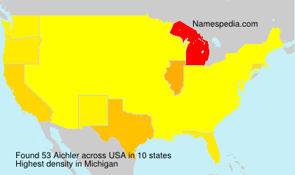 Surname Aichler in USA