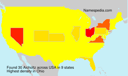 Surname Aicholtz in USA