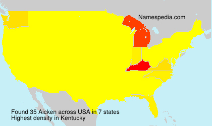 Surname Aicken in USA