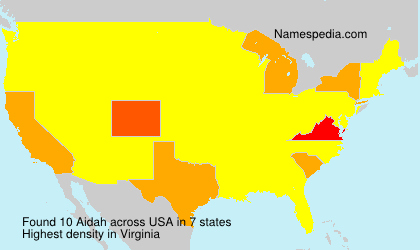 Surname Aidah in USA