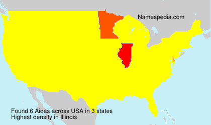 Surname Aidas in USA