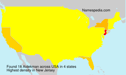 Surname Aidekman in USA