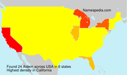 Surname Aidem in USA