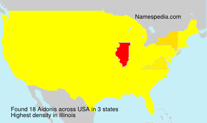 Surname Aidonis in USA