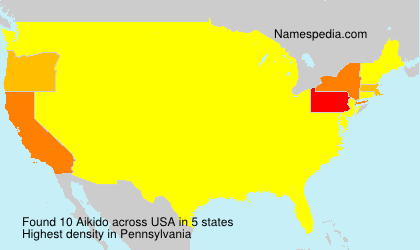 Surname Aikido in USA