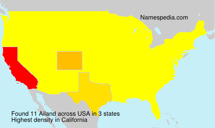 Surname Ailand in USA