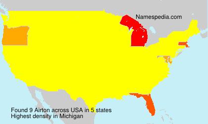 Familiennamen Airton - USA