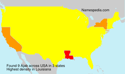 Surname Ajab in USA