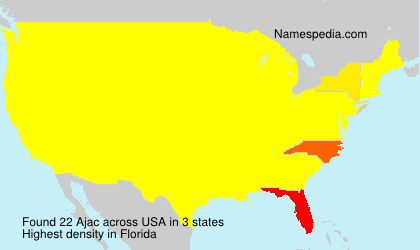 Surname Ajac in USA