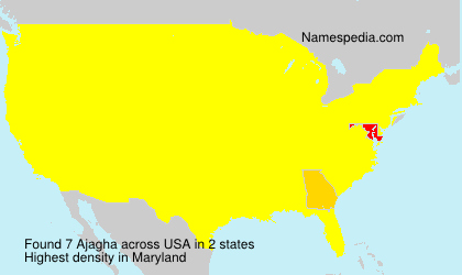 Surname Ajagha in USA