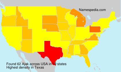 Familiennamen Ajak - USA