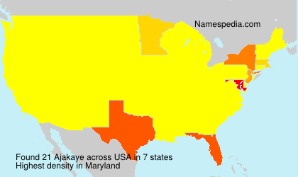 Surname Ajakaye in USA