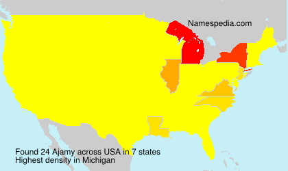 Surname Ajamy in USA