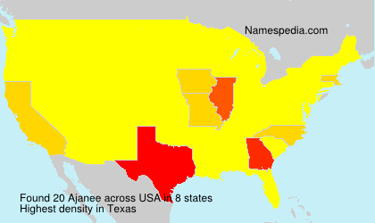 Surname Ajanee in USA