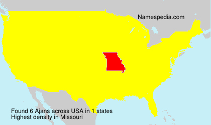 Surname Ajans in USA