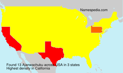 Surname Ajanwachuku in USA