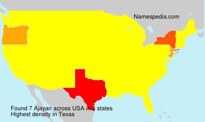 Familiennamen Ajayan - USA