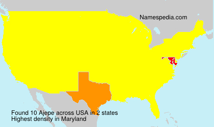 Surname Ajepe in USA