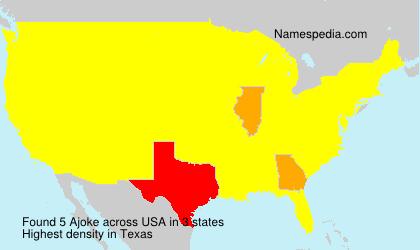 Surname Ajoke in USA